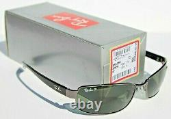 RAY-BAN RB3364 POLARIZED Sunglasses Gunmetal/Green Gray 004/58 62mm NEW