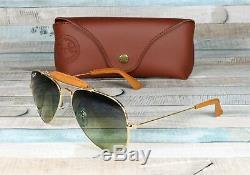 RAY BAN RB3422Q 001 M9 Aviator Craft Brown Green Polarized 58mm Men's Sunglasses