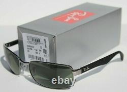 RAY-BAN RB3478 POLARIZED Sunglasses Gunmetal Black/Gray Green 004/58 60 NEW
