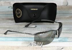 RAY BAN RB3542 029 5J Matte Gunmetal Grey Mirror Polarized 63mm Men's Sunglasses