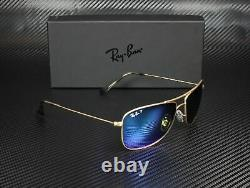 RAY BAN RB3543 112 A1 Matte Gold Blue Polarized Flash 59 mm Unisex Sunglasses