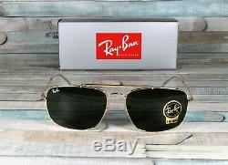 RAY BAN RB3560 001 The Colonel Gold Green 61 mm Men's Sunglasses