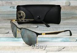 RAY BAN RB3569 187 88 Gold Top Black Grey Mirror Silver 59 mm Unisex Sunglasses
