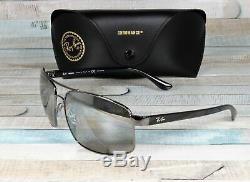 RAY BAN RB3604CH 004 5J Gunmetal Grey Mir Grey Polarized 62 mm Men's Sunglasses