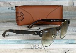 RAY BAN RB4175 878 51 Clubmaster Os Shiny Havana Brown 57 mm Men's Sunglasses