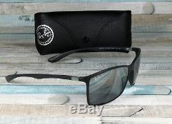 RAY BAN RB4179 601S82 Liteforce Matte Black Grey Mirr Polarized 62 mm Sunglasses