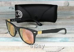 RAY BAN RB4195 601S2Y Wayfarer Liteforce Matt Black Copper 52mm Men's Sunglasses