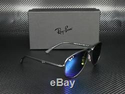 RAY BAN RB4320CH 601Sa1 MT Black Green MIR Blue Polarized 58mm Unisex Sunglasses