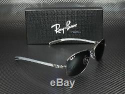 RAY BAN RB8301 004 N8 Gunmetal Polarized Gray Mir Slvr Gr 59 mm Men's Sunglasses