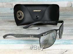 RAY BAN RB8319Ch 186 5J Matte Black Grey Grad Polarized 60 mm Men's Sunglasses
