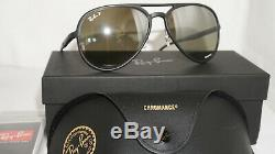 RAY BAN Sunglasses Black Blue Mirrored Polarized RB4320CH 601S5J 58 16 140