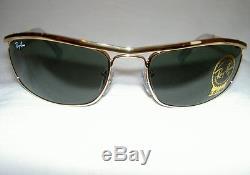 RAY BAN Sunglasses PREDATOR OLYMPIAN Gold Frame RB 3119 001 G-15 Lenses 62mm