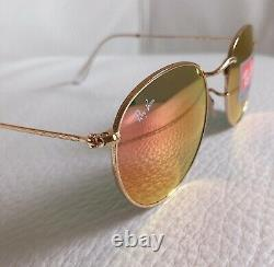 RAY BAN Sunglasses RB3447 ROUND METAL 50-21, Classic Pink, GOLD Frame Unisex