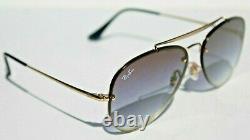 RAY-BAN Sunglasses RB3584N 91400S 58 Gold/Blue Gradient Blaze Aviator NEW Italy