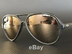 Rare B&L RAY BAN 50 FRANCE Matte Black CATS 5000 SKI AVIATOR SUNGLASSES BL