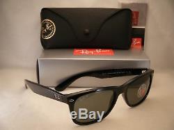 Ray Ban 2132 New Wayfarer Black w Green Polar Lens (RB2132 901/58 58mm size)