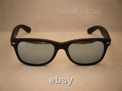 Ray Ban 2132 New Wayfarer Matte Black w Silver Mirror Lens (RB2132 622/30 55)