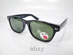Ray-Ban 2132 Wayfarer 901/58 Black/Green Polarized 55mm
