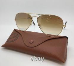 Ray Ban 3025 001/51 Gold Frame Aviator Gradient Lenses Sunglasses 58mm