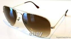 Ray Ban 3025 001/51 Gold Frame Aviator Gradient Lenses Sunglasses 62mm