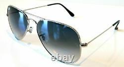 Ray Ban 3026 003/32 Aviator Silver Frame Gradient Lenses Sunglasses 62mm