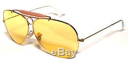 Ray Ban 3138 62 Shooter Gold Oro Yellow Giallo Ambermatic Customized Remix