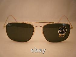 Ray Ban 3560 The Colonel Gold w Green Crystal (G-15) Lens (RB3560-001 61)