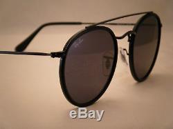 Ray Ban 3647N Round Double Bridge Black w Grey Lens (RB3647N 002/R5)