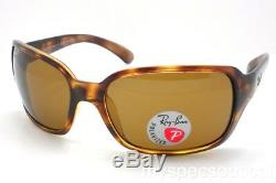 Ray Ban 4068 642/57 Havana 60 Brown Polarized Sunglasses New Authentic