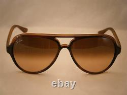 Ray Ban 4125 CATS 5000 Striped Havana w Pink Brown Gradient Lens (RB4125 820/A5)