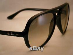 Ray Ban 4125 Cats 5000 Black w Grey Gradient Lens (RB4125 601/32)
