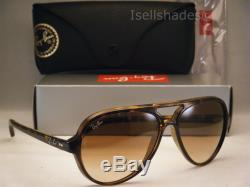 Ray Ban 4125 Cats 5000 Tortoise w Brown Gradient Lens (RB4125 710/51)