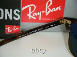Ray-Ban Authentic Clubmaster RB 3016 990/58 Red Havana / Green Polarized 51mm L