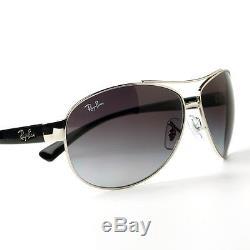 Ray-Ban Aviator Silver & Black Sunglasses Grey Lenses RB 3386 003/8G 63mm Unisex