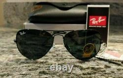 Ray-Ban Aviator Sunglasses RB 3026 Black Frame Classic black Lens 62mm