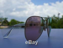 Ray-Ban Aviator Sunglasses RB3025 -Gold Frame Pink-Flash lenses 58mm 100%UV