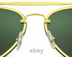 Ray-Ban BLAZE AVIATOR 905071 Gold, Green Classic Unisex Sunglasses 58mm