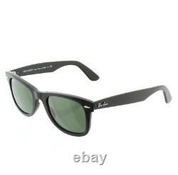 Ray Ban Black Sunglasses Wayfarer Ease Green Lens RB4340 601 50-22