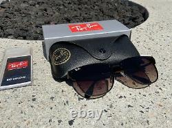 Ray-Ban Blaze Clubmaster Gunmetal Frame With Brown Gradient Lens RB3576N 041/13