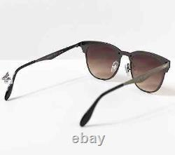 Ray-Ban Blaze Clubmaster Sunglasses RB3576N 041/13 Brown Gradient Lens 47mm