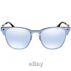 Ray Ban Blaze Clubmaster Violet Mirror Square Sunglasses RB3576N 90391U 41