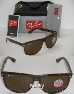Ray-Ban Boyfriend 4147 Light Havana Frame Brown Polarized RB 4147 710/57 60MM