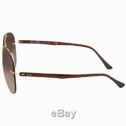 Ray Ban Brown Gradient Aviator Men's Sunglasses RB8058 157/13 59