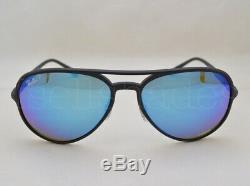 Ray Ban CHROMANCE (RB4320CH-601SA1 58) Matte Black with Green Mir Blue Polar Lens