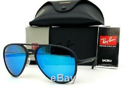 Ray Ban CHROMANCE RB4320CH 601SA1 Black / Blue Mirror Polarized 58mm Sunglasses