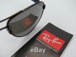 Ray-Ban Carbon Fibre RB 8313 002/K7 58mm Shiny Black Grey Mirror Black polarized