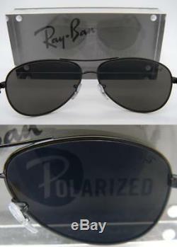 Ray-Ban Carbon Fibre RB 8313 002/K7 61mm Shiny Black Grey Mirror Black polarized