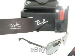 Ray-Ban Carbon Fibre RB 8313 004/K6 58mm Gunmetal Blue Mirror Silver polarized
