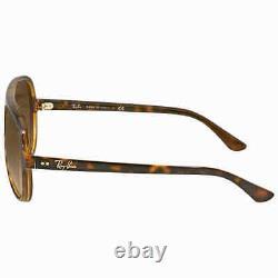 Ray Ban Cats 5000 Classic Tortoise Aviator Sunglasses RB4125 710/51 59
