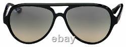 Ray Ban Cats 5000 Sunglasses RB 4125 601/32 59 Black Light Grey Gradient Lens